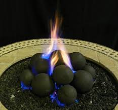 Fire Pit Lava Rock by Amazon Com Myard 14 Cannonball Fire Stones Log Set For Fire Pit