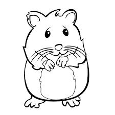 coloriage de hamster a imprimer gratuit