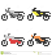 minecraft motorcycle illustration pixel art icon motorcycle stock vector image 53896842