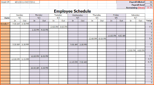 Schedule Template In Excel 6 Weekly Work Schedule Template Excel Budget Template Letter
