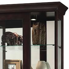 Contemporary Curio Cabinets Espresso Curio Cabinet Gorgeous 680577 Howard Miller Seven Levels