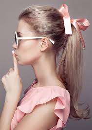 ribbon ponytail ways to wear ribbon in your hair