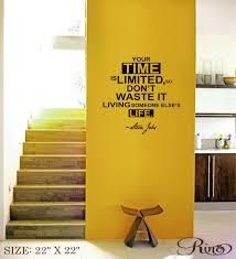 steve jobs wall art decal inspirational quote vinyl sticker home