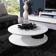 coffee tables simple living room contemporary round white low