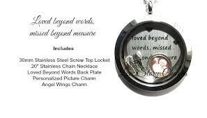 in loving memory charms in loving memory memorial necklace 30mm stainless steel