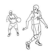 nba players coloring pages basketball players in action coloring pages hellokids com