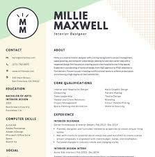 Resume For Someone With One Job by Free Online Resume Maker Canva