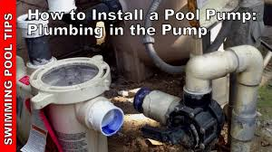 how to install a pool pump plumbing the pump part 2 of 2 youtube