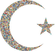 psychedelic tiled crescent moon and icons png free png and