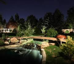 Landscape Lighting Utah - water feature and pond lighting