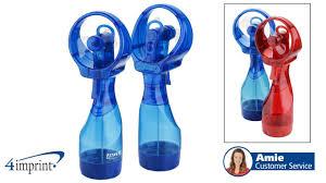 water bottle misting fan o2cool large deluxe misting fan promotional products by 4imprint