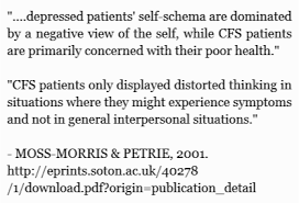 extract from discriminating between chronic fatigue syndrome and