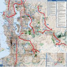 Seattle Area Code Map vintage washington map shows today u0027s rails to trail network