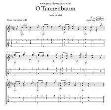 o u0027tannenbaum arranged for fingerstyle guitar by bill tyers