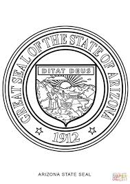 arizona state seal coloring page free printable coloring pages