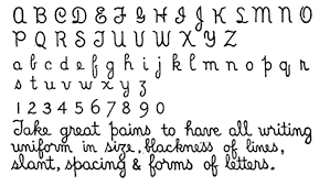 Penmanship Worksheets The Context And History Of Library Hand