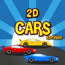 cartoon sports car side view 2d cars sprites gamedev market