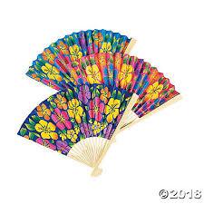 folding fans hibiscus folding fans
