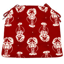 sea shore lobster red indoor outdoor dining chair pads patio sea shore lobster red dining chair pads made in usa barnett home decor