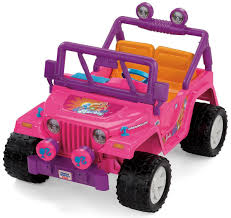 jeep lifted pink amazon com power wheels barbie jammin jeep wrangler discontinued