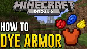 minecraft xbox one how to dye armor colored armor in minecraft