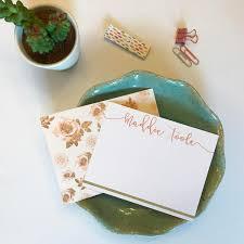 custom notecards retro personalized stationery for custom notecards