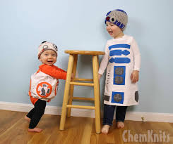 chemknits one pair of pants into two costumes r2d2