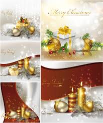 christmas cards with candles vector vector graphics blog