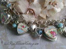 crystal bracelet charms images Broken china jewely aque crystal charm bracelet jpg