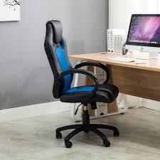 computer desk gaming high back race car style bucket seat office desk chair gaming