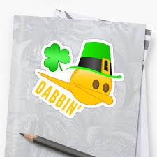 dabbing st patrick u0027s day emoji with leprechaun hat
