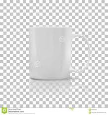 set of cup or mug white color stock vector image 64981605