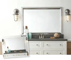 Frame Bathroom Mirror Kit by Mirror Frames For Mirrors Mirrormate Frames