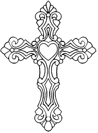 free easter cross coloring pages station stations kids catholic