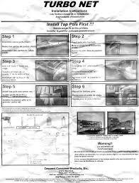 Curtain Rod Instructions Turbo Tailgate Net Installation Instructions