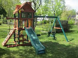 decorating interesting wooden playsets for modern outdoor design