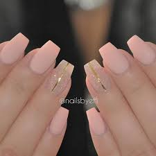 matte pink with glitter and gold stripes nail design nail art