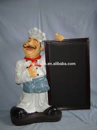 bistro fat and thin chef statue cooking dishes restaurant