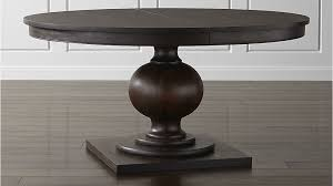 winnetka dark mahogany round extendable dining tables crate and