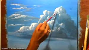 paintings to paint how to paint clouds in acrylic painting lesson by