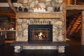 25 interior stone fireplace designs