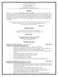 Sample Resume For All Types Of Jobs by Resume Samples In Teaching Profession