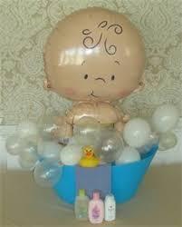 baby shower balloons bebé niño en baño azul con burbujas de globos baby boy in bath