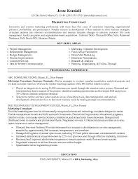 Example Of Objective In Resume For Jobs by Marketing Consultant Resume Http Jobresumesample Com 550