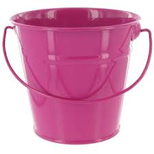 Tin Buckets For Centerpieces by Pink Small Solid Metal Pail With Handle Hobby Lobby 49230