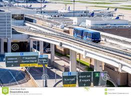 Iah Terminal Map Above Ground Terminal Connecting Tram At Iah Airport Editorial