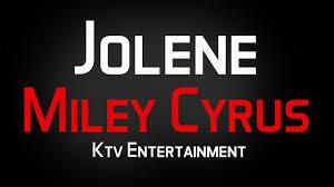 miley cyrus jolene karaoke without vocal youtube