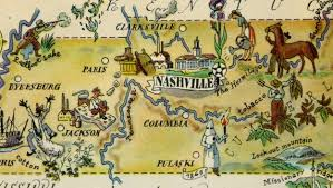 Map Of Tennesse Tennessee Pictorial Map 1946