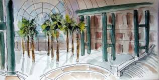 new york city urban sketchers sketches from the winter garden at