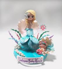 porcelain cake topper mermaid baby shower cake topper mermaid baby shower decoration